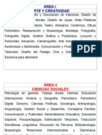 AREAS Orientacion Vocacional