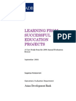 Learning from Successful Education Projects