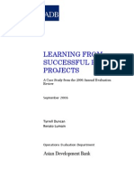 Learning from Successful Road Projects
