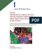 India: Promoting Urban Social Development through Self Help Groups in Karnataka
