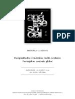 CANTANTE, Frederico - Desigualdades Económicas Multi-escalares. Portugal No Contexto Global