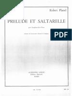 Prélude Et Saltarelle - Robert Planel