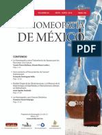 La Homeopatía de México, no. 702 (mayo-junio de 2016)