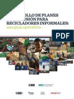 Guía Operativa Para El Desarrollo de Planes de Inclusión Para Recicladores Informales