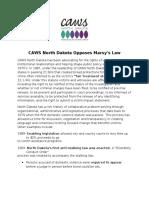 CAWS North Dakota Marsy's Law