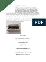 Funcionamiento de La Impresora de Impacto