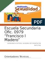 Experiencia Exitosa Madero Sexualidad