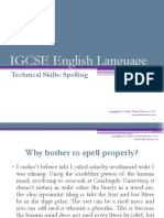 Igcse Eng Lang Spelling