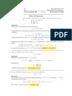 Corrección Primer Parcial de Cálculo III, 20 de junio de 2016