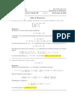 Corrección Primer parcial Cálculo III 20 de junio de 2016 (tarde)