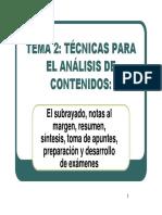 El Subrayado, Notas Al Margen, Resumen, Síntesis, Toma de Apuntes, Preparación y Desarrollo de Exámenes