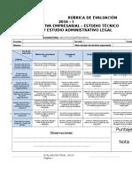 Rúbrica Del Estudio Técnico Operativo y Administrativo Legal (1)