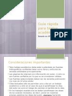 Guía Rápida Para Presentar Trabajos Escritos