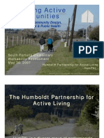 Designing Active Communities, Connecting Community Design, Public Appeal and Public Health
