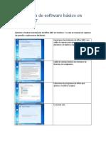 Instalacion de Software Basico en Windows 7..