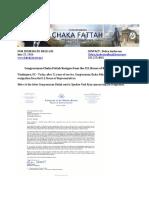 Fattah Resignation Announcement
