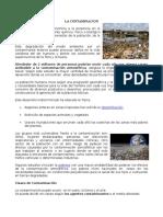 Clases de Contaminacion en El Medio Ambiente