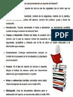 Estructura Reporte de Lectura