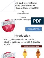 ESO-ESMO 2nd International Consensus Guidelines for Advanced Breast