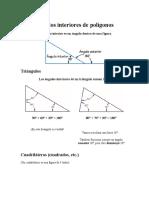 Angulos Interiores de Polígonos