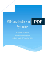 ENT Considerations in Down's