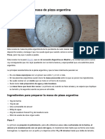 Receta Casera de Masa de Pizza Argentina
