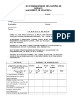 Formato de Evaluación de Desempeño de Rasgos