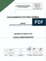 P5ULZVZPR-005 Procedimiento de Paro Normal