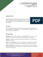 14-031_P_Analisis de Certificados de Calibracion
