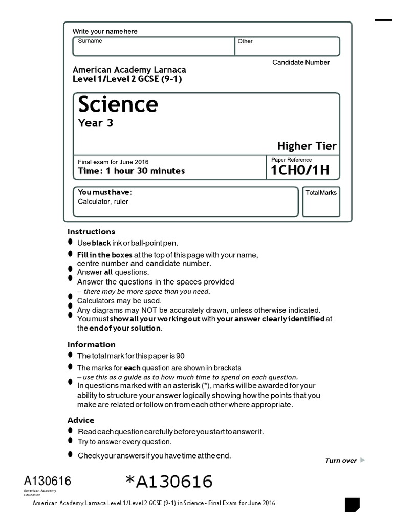 Gcse 9 1 y9 science final exam 1516 with mark scheme dominance gcse 9 1 y9 science final exam 1516 with mark scheme dominance genetics genotype ccuart Choice Image