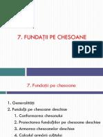 Fundatii Pe Chesoane an IV CCIA 2015