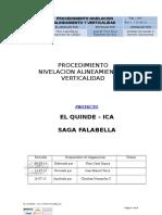 Procedimiento de nivelación, alineamiento y verticalidad