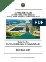 Manual Inauguracion Canal Ampliado