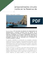 Cierran Temporalmente Circuito Turístico Norte en La Reserva de Paracas