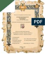 Artículos Ética y Deontología