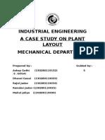 A Case Study on Plant Layout