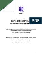 Carta Iberoamericana de Gobierno Electrónico