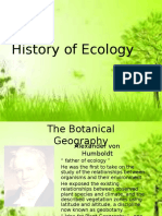 History of Ecology