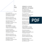 Himno a Don Benito Júarez