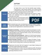 Fact-sheet Goldman's Social Impact Fund