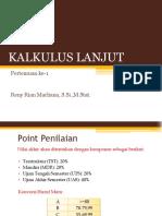 Pertemuan Ke-1 (Integral Tak Tentu & Logaritma)