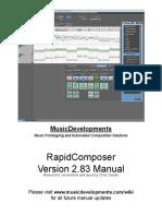 RapidComposer Version 2.83 Manual