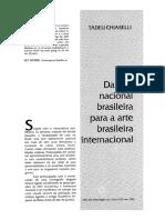 Tadeu Chiarelli 1995 - Da Arte Nacional Para a Arte Internacional Brasileira