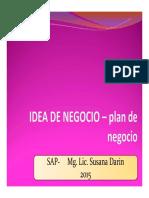 SAP 2015 - Idea de Negocio
