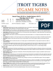 Postgame Notes 6-23-16
