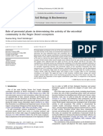 Role of Perennial Plants in Determining the Activity of the Microbial Community