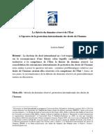 Leticia sakai - Théorie du domaine réservé (Relu TCDP)