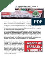 Reflexion de un grupo de militantes del SAT de Sanlucar Ante Las Elecciones del 26J