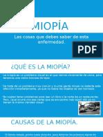 Miopía, las cosas que debes saber de esta enfermedad.