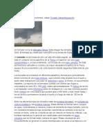 CARACTERISTICAS DE LOS TORNADOS